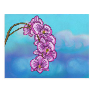 Purple Orchid Postcard