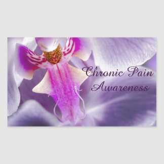 Purple Orchid Rectangular Sticker