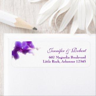 Purple Orchid Return Address Label