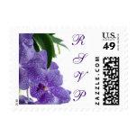 Purple Orchid RSVP Postage Stamp