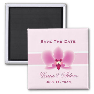 Purple Orchid Save the Date Magnet
