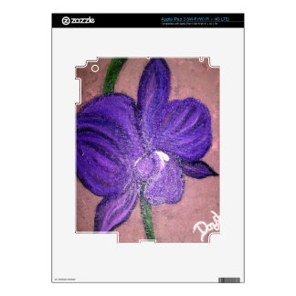 PURPLE ORCHID DECAL FOR iPad 3