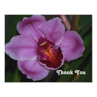 Purple Orchid Thank You Card