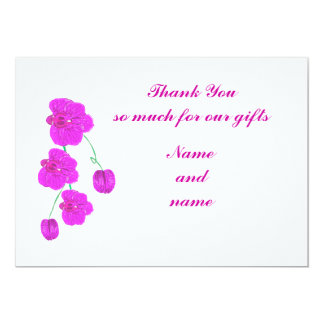 Purple Orchid Thank You for gifts cards