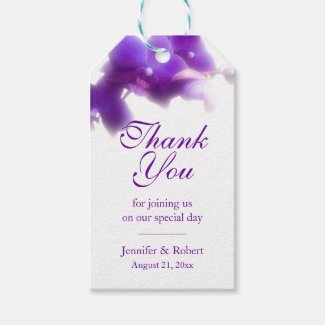 Purple Orchid Thank You Gift Tag