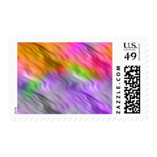 Purple Orchid Wavy Texture Postage