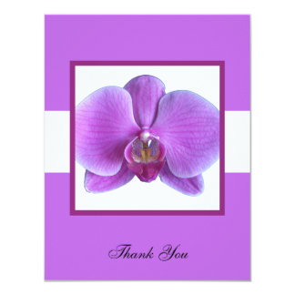 Purple Orchid Wedding Gift Thank You Invitation