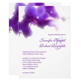Purple Orchid Wedding Invitation