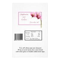 Purple Orchid Wedding Large Candy Wrapper Flyer