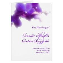 Purple Orchid Wedding Program Card
