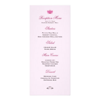 Purple Orchid Wedding Reception Menu Personalized Rack Card