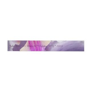 Purple Orchid Wraparound Address Label