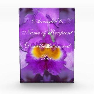 Purple Orchids Acrylic Award