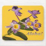 Purple Orchids - Aloha  Mouse Pad