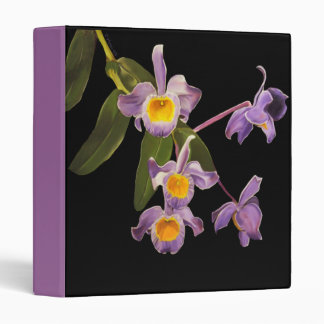 Purple Orchids Avery Binder