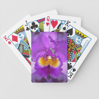 Purple Orchids Bicycle Playing Cards