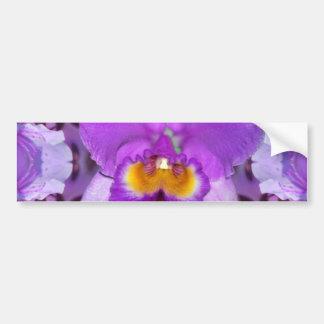 Purple Orchids Bumper Sticker
