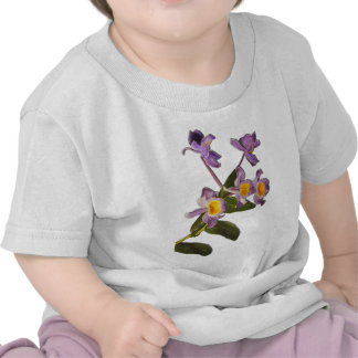 Purple Orchids Oil on Canvas Baby T-Shirts