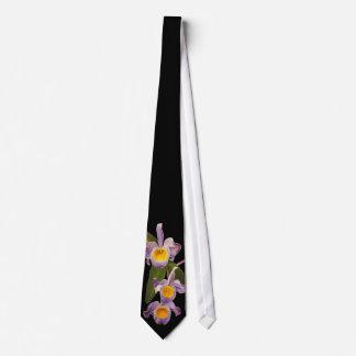 Purple Orchids Oil on Canvas Tie