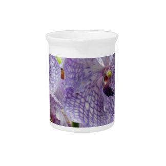 Purple Orchids Beverage Pitchers