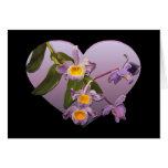 Purple Orchids Valentine's Day Card