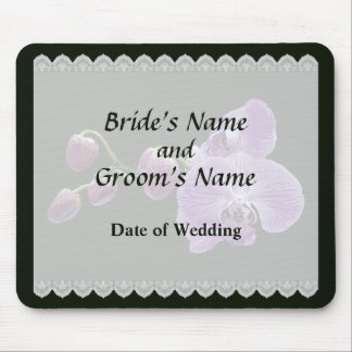 Purple Orchids With Buds Wedding Favors Mouse Pad