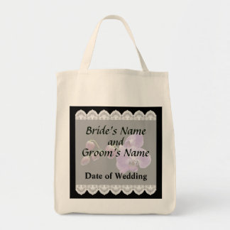 Purple Orchids With Buds Wedding Favors Tote Bag