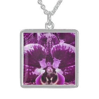 Purple Orchis Closeup Necklace