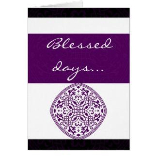 Purple oriental greeting card