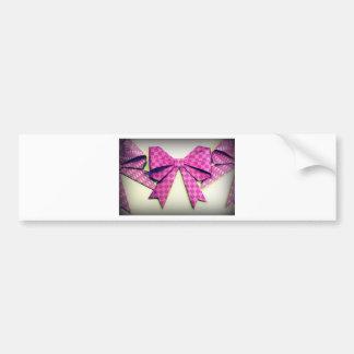 Purple Origami Bows Bumper Stickers
