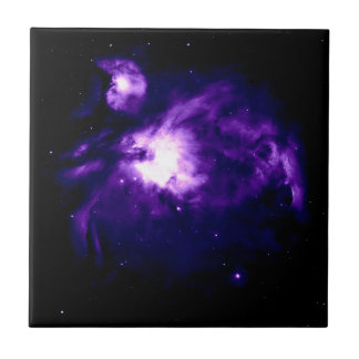 Purple Orion Nebula : Galaxy Ceramic Tile