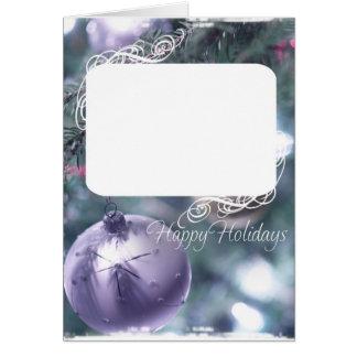 Purple Ornament Card