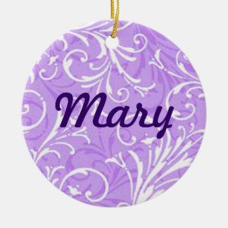 Purple Ornamental Name Ornament