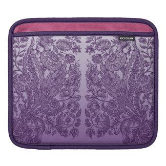 Purple Ornaments Sleeve For iPads
