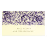 Purple Ornate Baroque Business Card