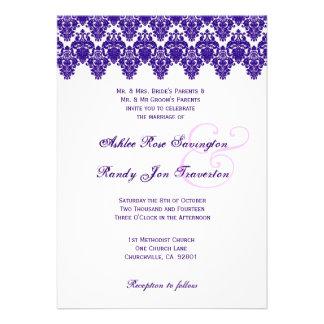 Purple Ornate Damask Lace V01 Announcement