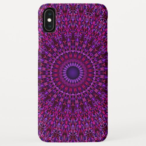 Purple Ornate Mandala Phone Case