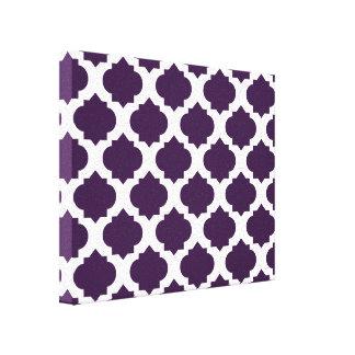 Purple Ornate Pattern Canvas Print