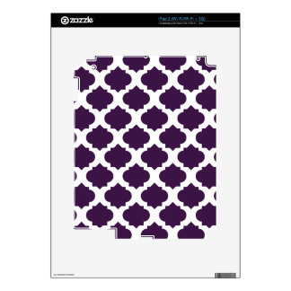 Purple Ornate Pattern Decals For The iPad 2