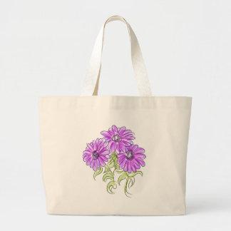 Purple Osteospermum Daisies Jumbo Tote Bag