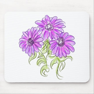 Purple Osteospermum Daisies Mouse Pad