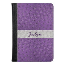 Purple Ostrich Leather Look Kindle Fire Folio Kindle Case