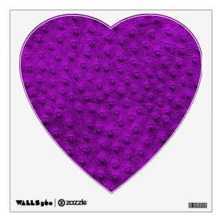 Purple Ostrich Leather Print Heart Wall Decal