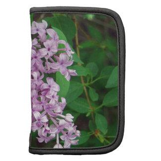 Purple Outdoor Flower Bush Folio Planner