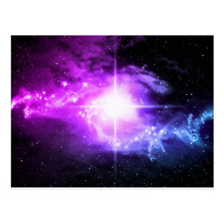 Purple Outer Space Postcard