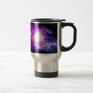 Purple Outer Space Travel Mug