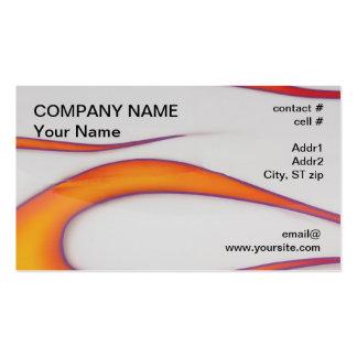 Purple outline orange hotrod flames Double-Sided standard business cards (Pack of 100)