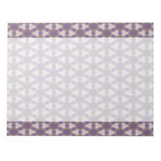 Purple overlapping circles print notepad