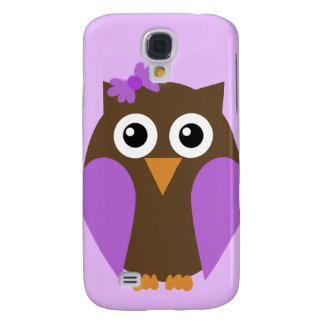 Purple Owl & A Bow iPhone3G Case Galaxy S4 Cases