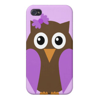 Purple Owl & A Bow iPhone4 Case iPhone 4 Cases
